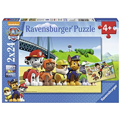 Ravensburger Paw Patrol Jigsaw Puzzle (2 x 24 Piece): Toys & Games