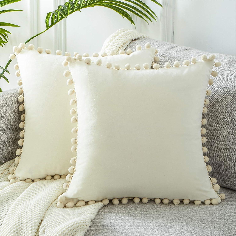 Coussin 40x40cm étoile blanc crème déco avec remplissage Coussin oreiller coussin étoile