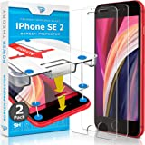 Power Theory Screen Protector for iPhone SE 2020 [2-Pack] with Easy Install Kit [Premium Tempered Glass for SE 2]