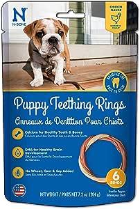 N-Bone Puppy Teething Ring Chicken Flavor (1 Pack of 6 Rings)