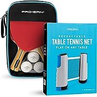Juego de 2 o 4 palas de ping pong, juego de ping pong de alto rendimiento con palas de tenis de mesa premium, pelotas de…