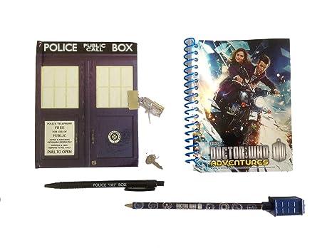 Doctor Who Tardis bloc de notas, Bolígrafo y lápiz conjunto ...