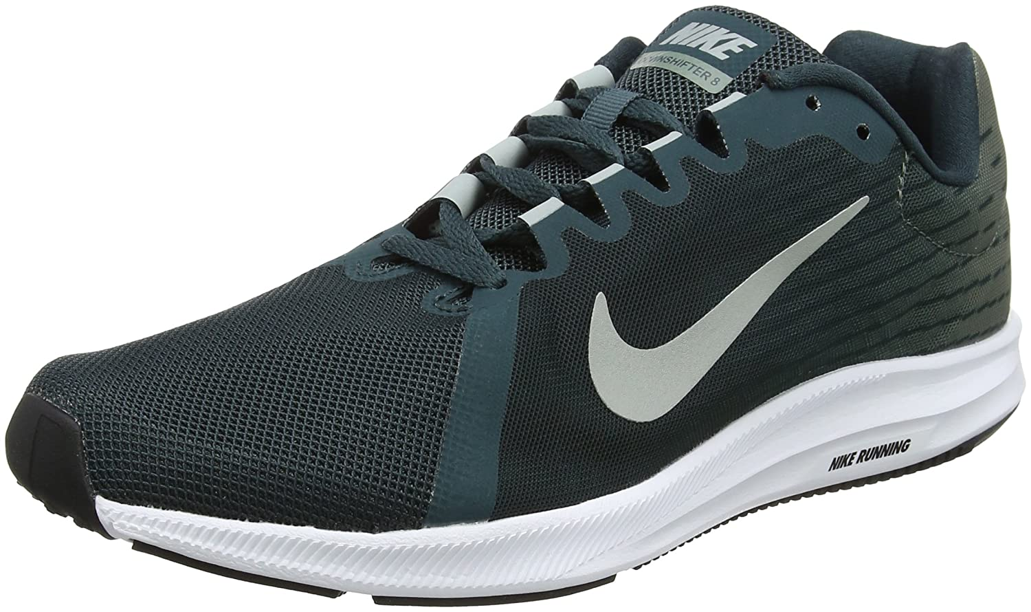 Nike Downshifter 8, Zapatillas de Running para Hombre 45 EU|Verde (Deep Jungle/Light Pumice-clay Green 300)