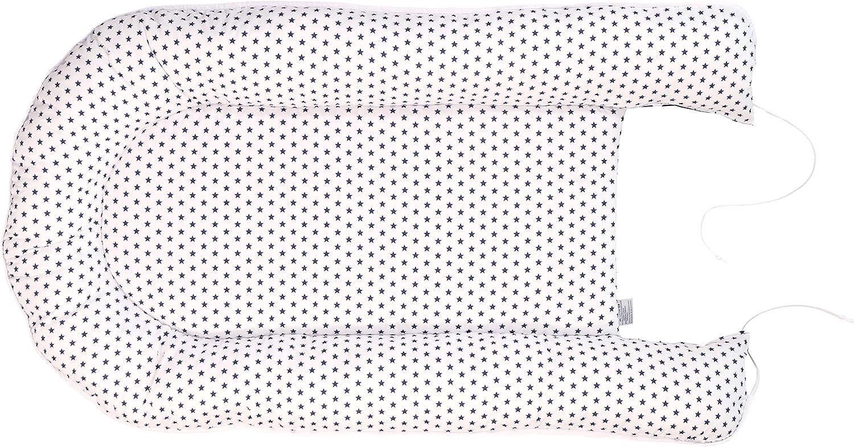 55 x 95/cm cocon pour b/éb/é, nid en coton, utilisable comme lit portatif, motif/: /étoiles, pois Cale-b/éb/é ULLENBOOM /® bleu marine bleu ciel gris
