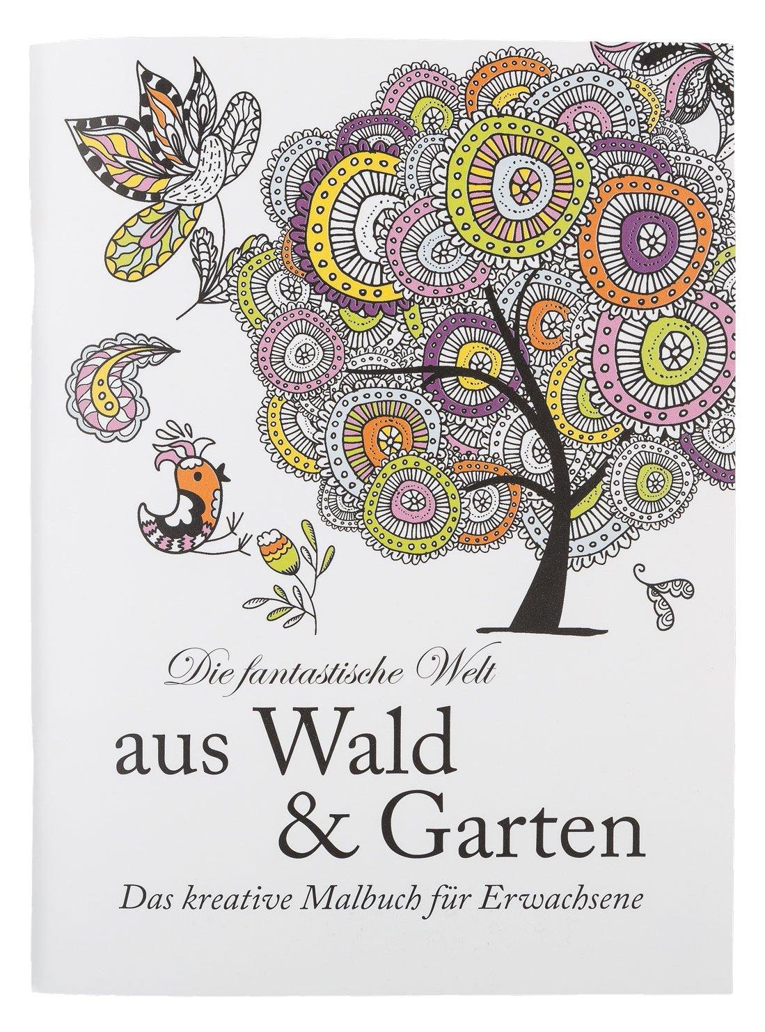 Idena 68129 - Malbuch für Erwachsene, Motiv Wald und Garten, 64 ...