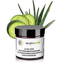 Fuktgivande och lugnande ansiktskräm med aloe vera och gurka | 60 ml | återfuktar, lugnar och mattar huden | Vegan | för…