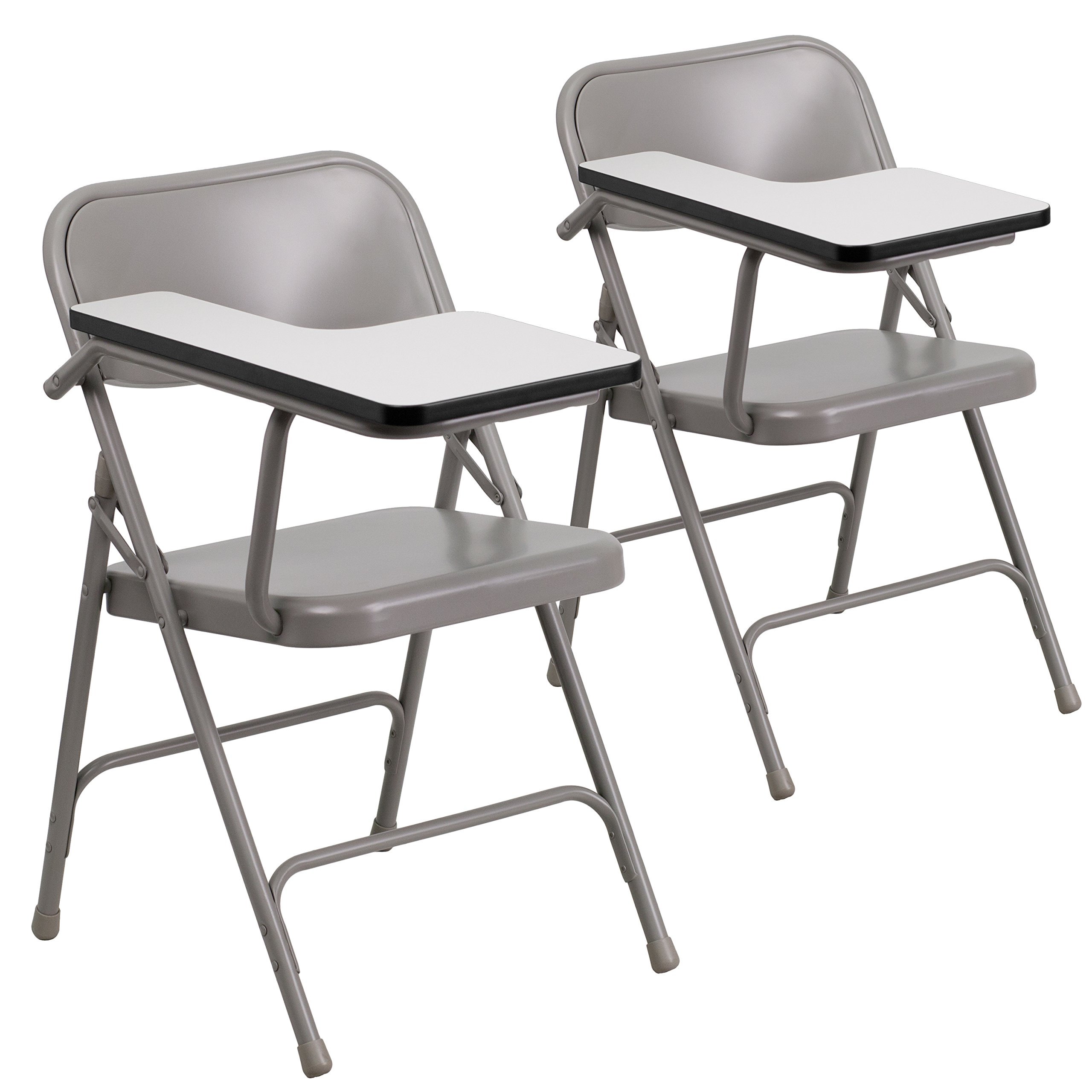 Flash Furniture 2 Pk. Premium Steel Folding Chair with Right Handed Tablet Arm by Flash Furniture