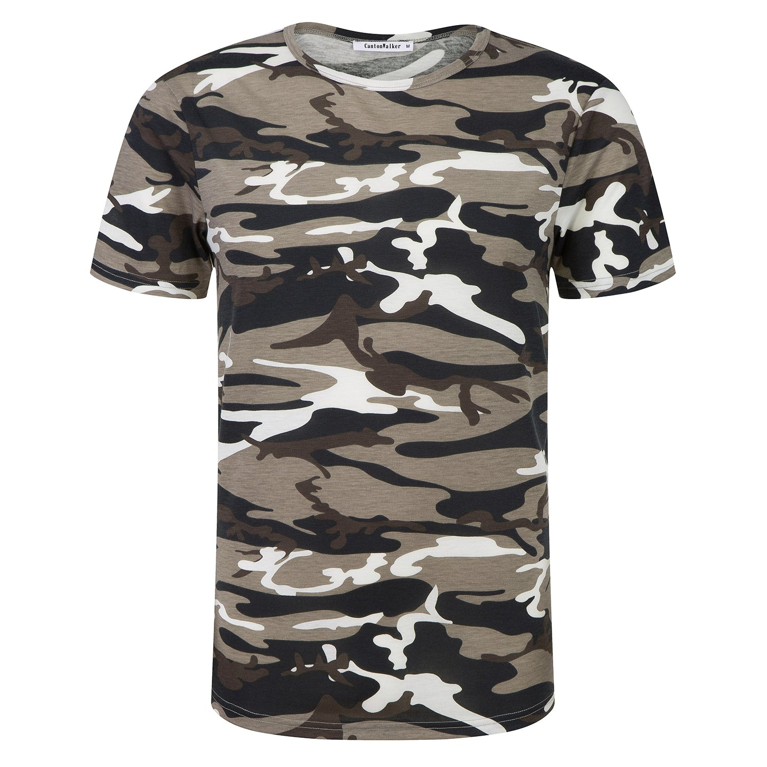 706372201 CAMO DESIGN: camouflage uniforms T-shirt, short-sleeved, round neck design,  to show men's military personality and firm character.