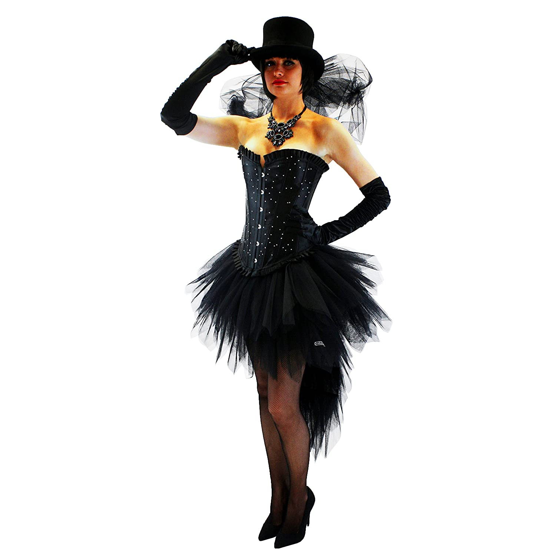 Burlesque Mardi Gras Negro Lolita falda bullicio negro negro 40 ...