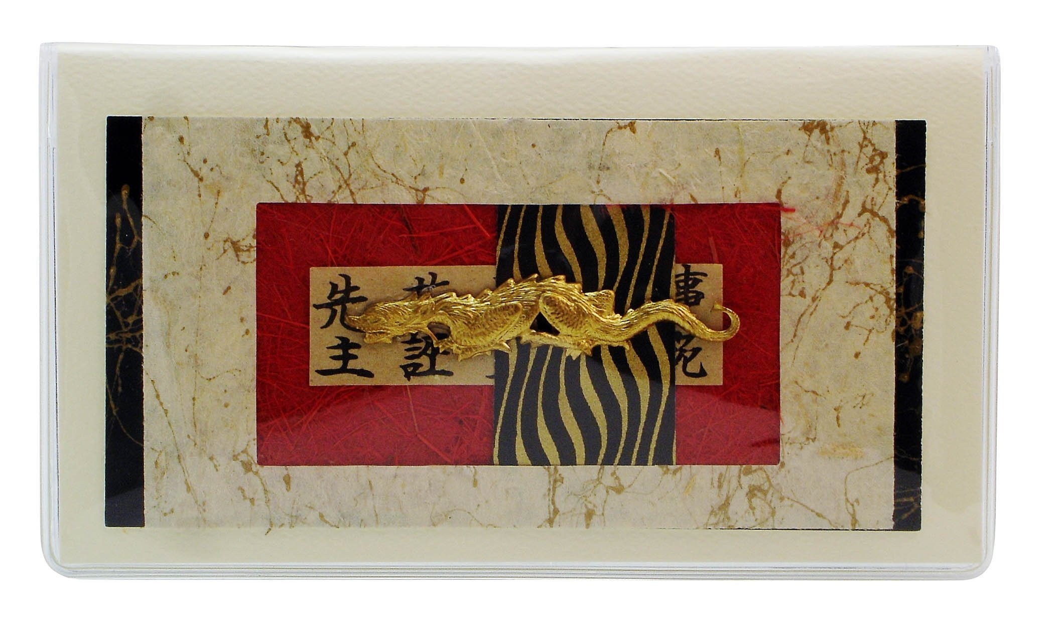 Asian Dragon Checkbook Cover Made in the USA