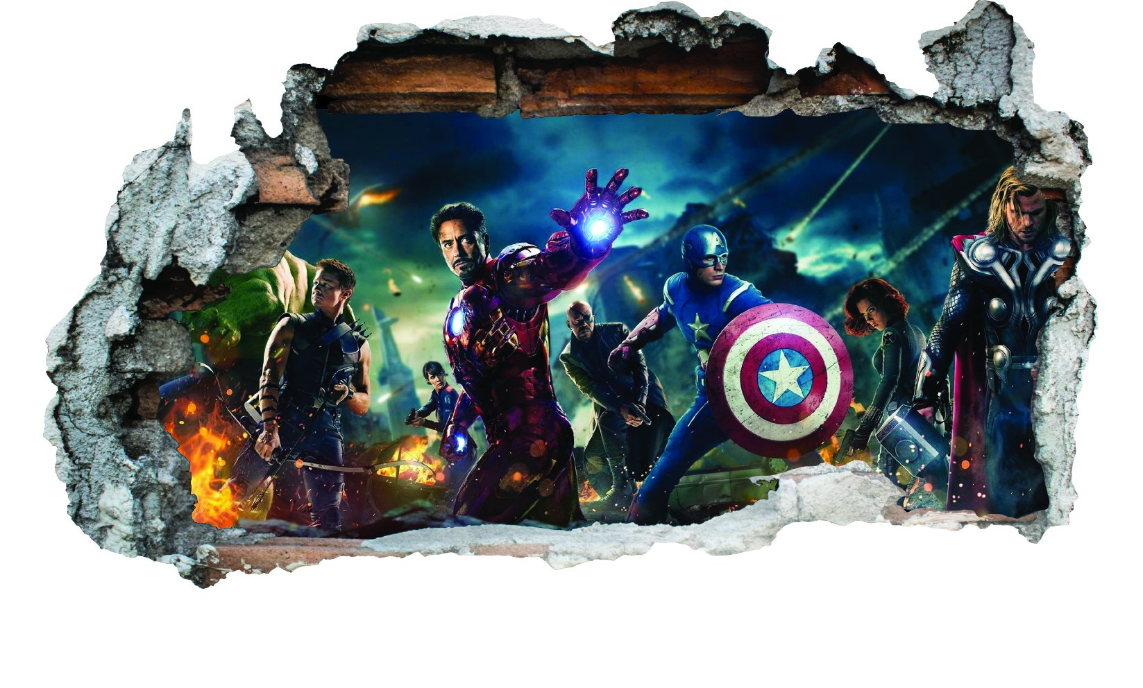GNG Marvel Avengers Vinyl Smashed Wall Art Decal Stickers Bedroom Boys Girls 3D L by giZmoZ n gadgetZ (Image #2)
