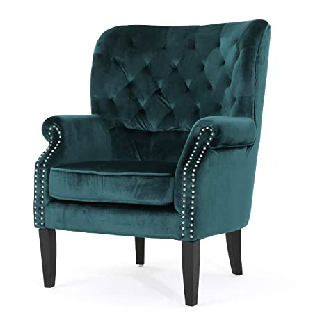 Christopher Knight Home 301262 Tomlin Arm Chair Teal