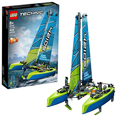 LEGO Technic Catamaran 42105 Model Sailboat Building Kit, New 2020 (404 Pieces) (Renewed): Toys & Games [5Bkhe1901060]