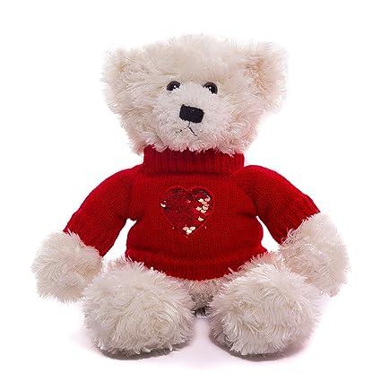 9 inches tall sitting mocha Plushland teddy bear