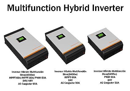 Inversor Onda Pura Hibrido 3kva 5kva Regulador 50a 60a 80a ...