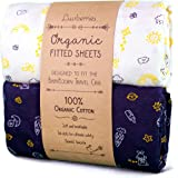 Luvberries 100% Organic Cotton Crib Sheets (Set of 2) for The Baby Bjorn Travel Crib, Baby and Toddler, Fitted Crib…
