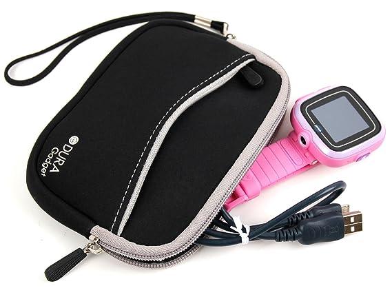 DURAGADGET Funda/Estuche De Neopreno Rosa Compatible con Vtech Kidizoom Smartwatch/DX + Correa Hijos Guarden Su Reloj Inteligente!