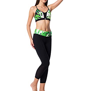 3cdc7693c3498 Amazon.com  Athena Women s Yoga Wear Set  Sports Bra Capris Shorts ...