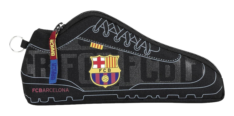 Safta Estuche F.C.Barcelona Black Oficial Escolar 240x20x100mm: Amazon.es: Juguetes y juegos