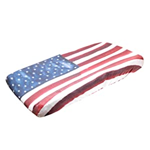 """Premium Knit Diaper Changing Pad Cover""""Patriot"""" by Copper Pearl"""