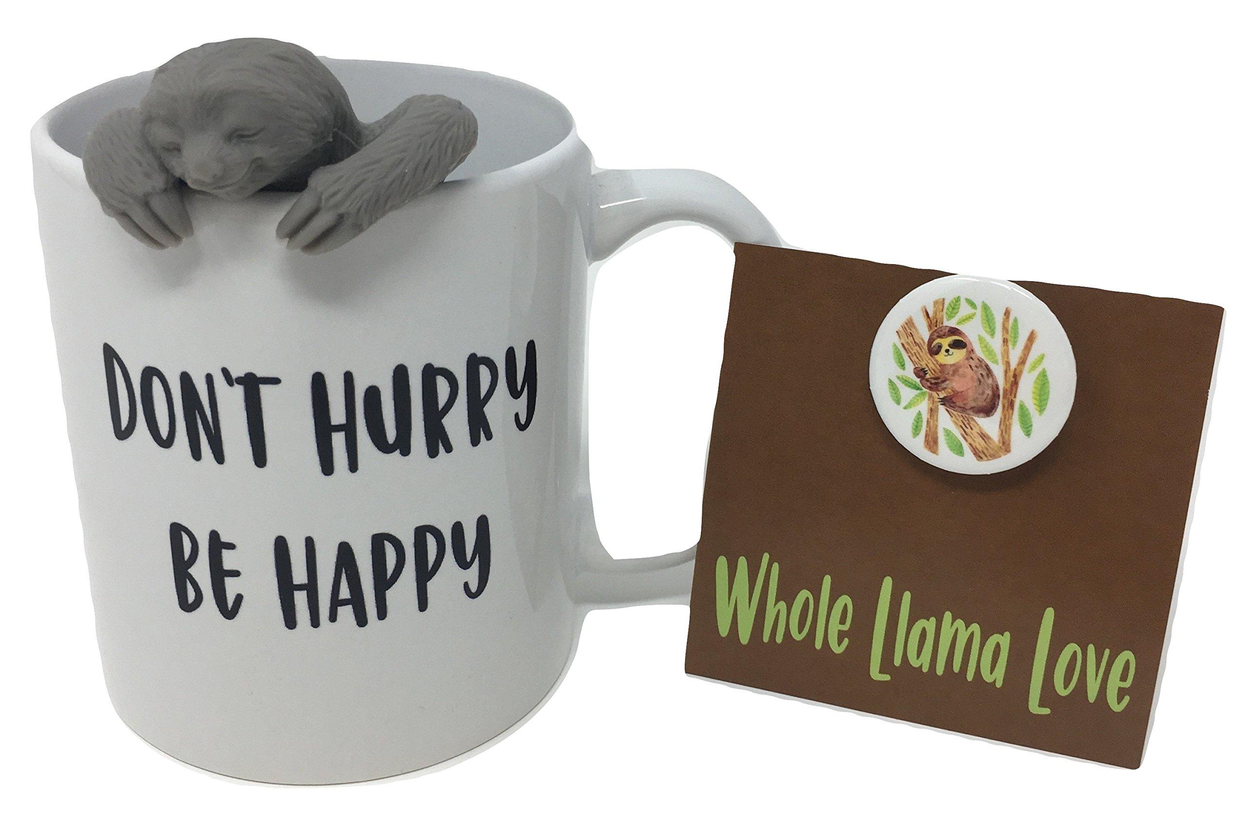 Sloth Tea Infuser Gift Set with White 11oz Mug - Top Shelf Diswasher & Microwave Safe