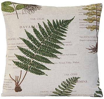 Amazon.com: Geranio & Fern Funda de cojín jardín botánico ...