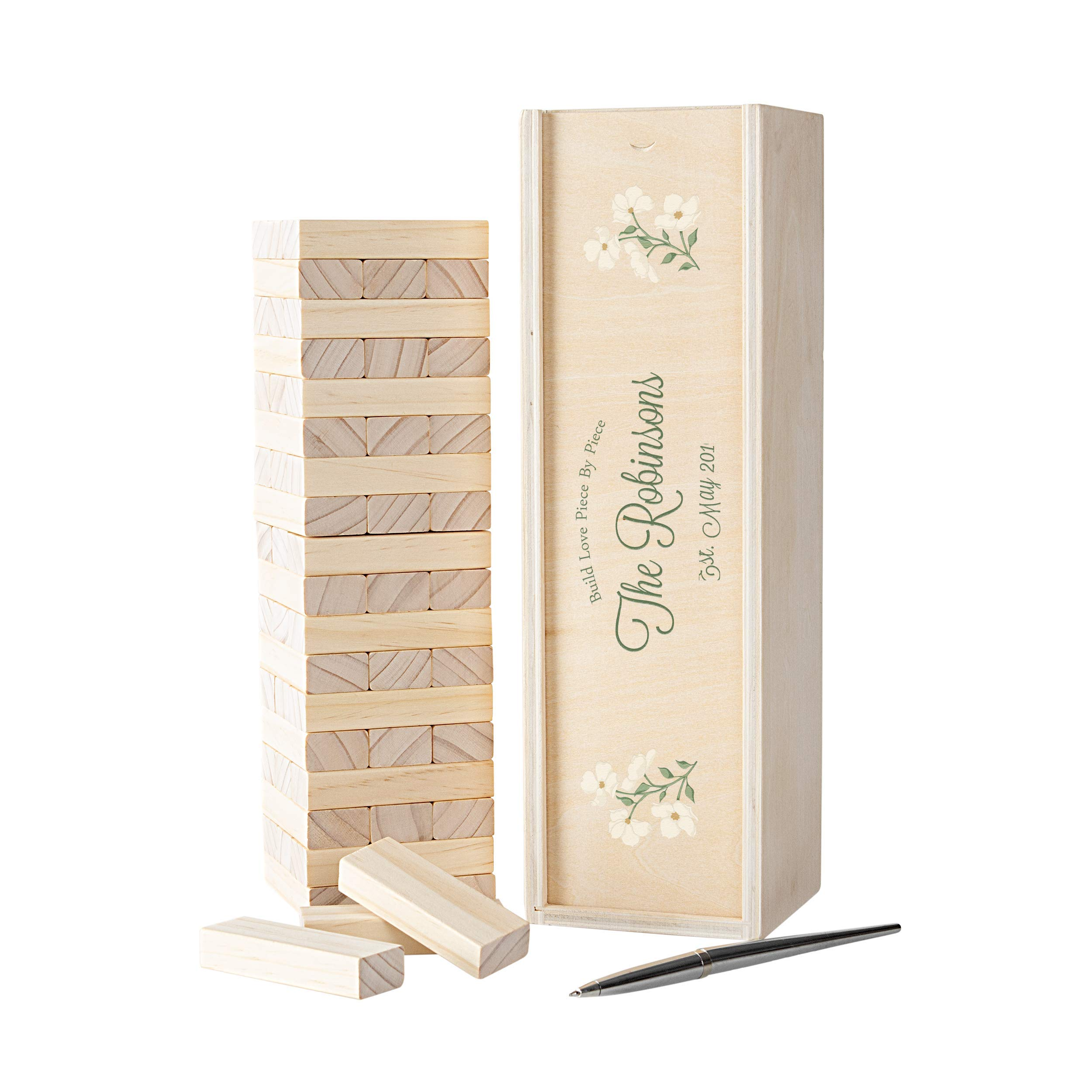 Cathy's Concepts Personalized Floral Building Block Wedding Guestbook