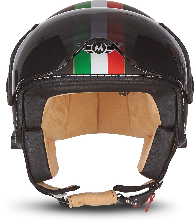 "Moto Helmets/® H44 /""Matt Black/"" /· Jet-Helm /· Motorrad-Helm Roller-Helm Scooter-Helm Bobber Mofa-Helm Chopper Retro Cruiser Vintage Pilot Biker Helmet /· ECE Visier Schnellverschluss Tasche XL 61-62cm"