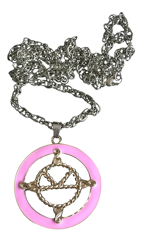 Kingsman: The Secret detalles sobre Servicio medalla Eggsy collar con colgante en forma es rosa dorado esmaltado Logo de bañado en plata cadena: Amazon.es: ...