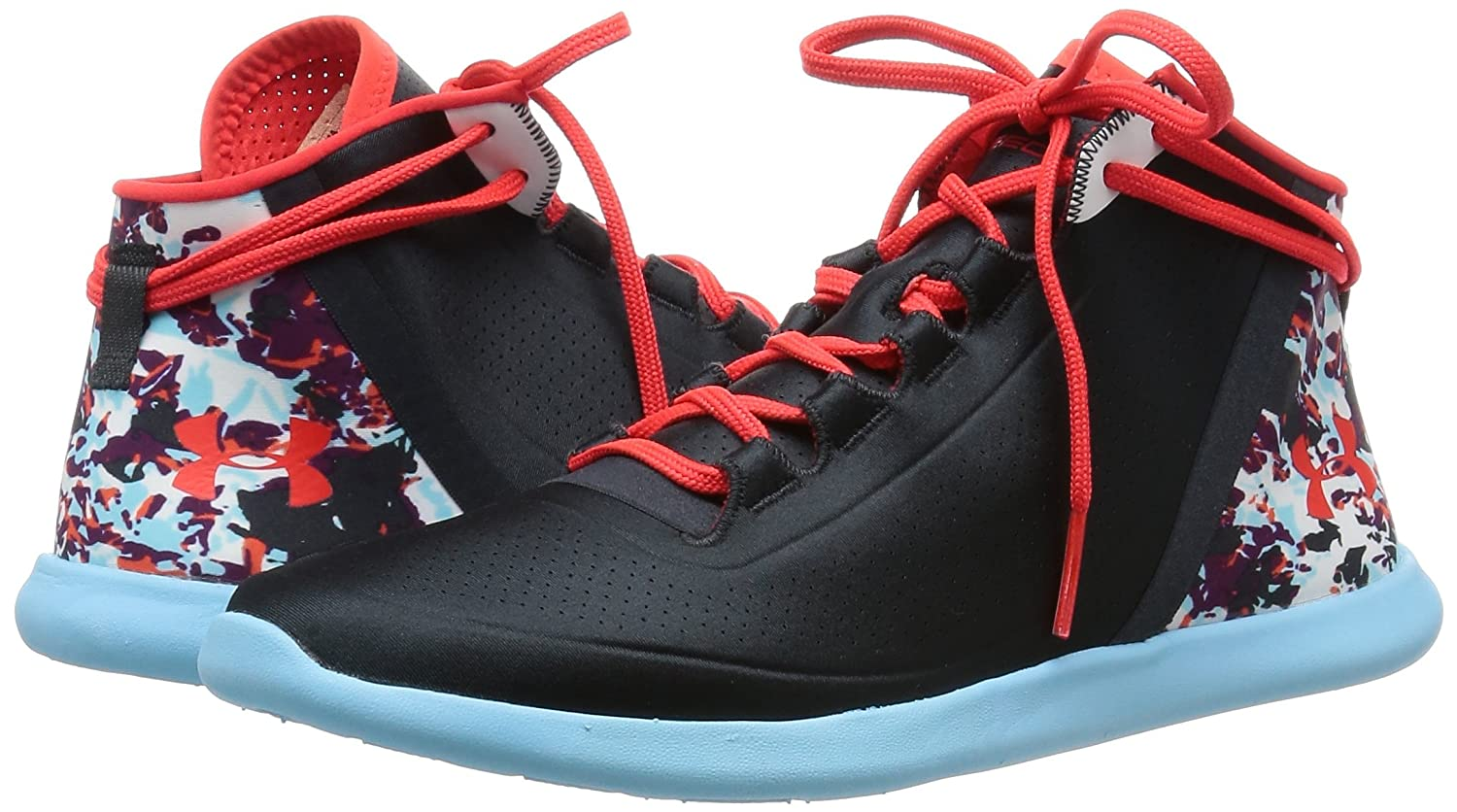 Under Mid Armour Ua W StudioLux Mid Under Cover - Anthracite/Sky Blau/Rocket ROT - 0764e3
