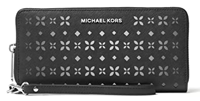 286a35cca5 MICHAEL MICHAEL KORS Jet Set Travel Perforated-Leather Continental Wallet