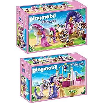 Playmobil Set: 6855 Establo del Caballo Real & 6856 Pareja ...