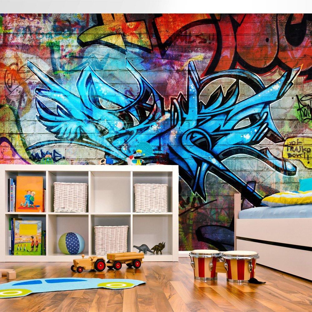 murando Papier peint intiss/é 400x280 cm D/écoration Murale XXL Poster Tableaux Muraux Tapisserie Photo Trompe loeil Graffiti 10110905-4