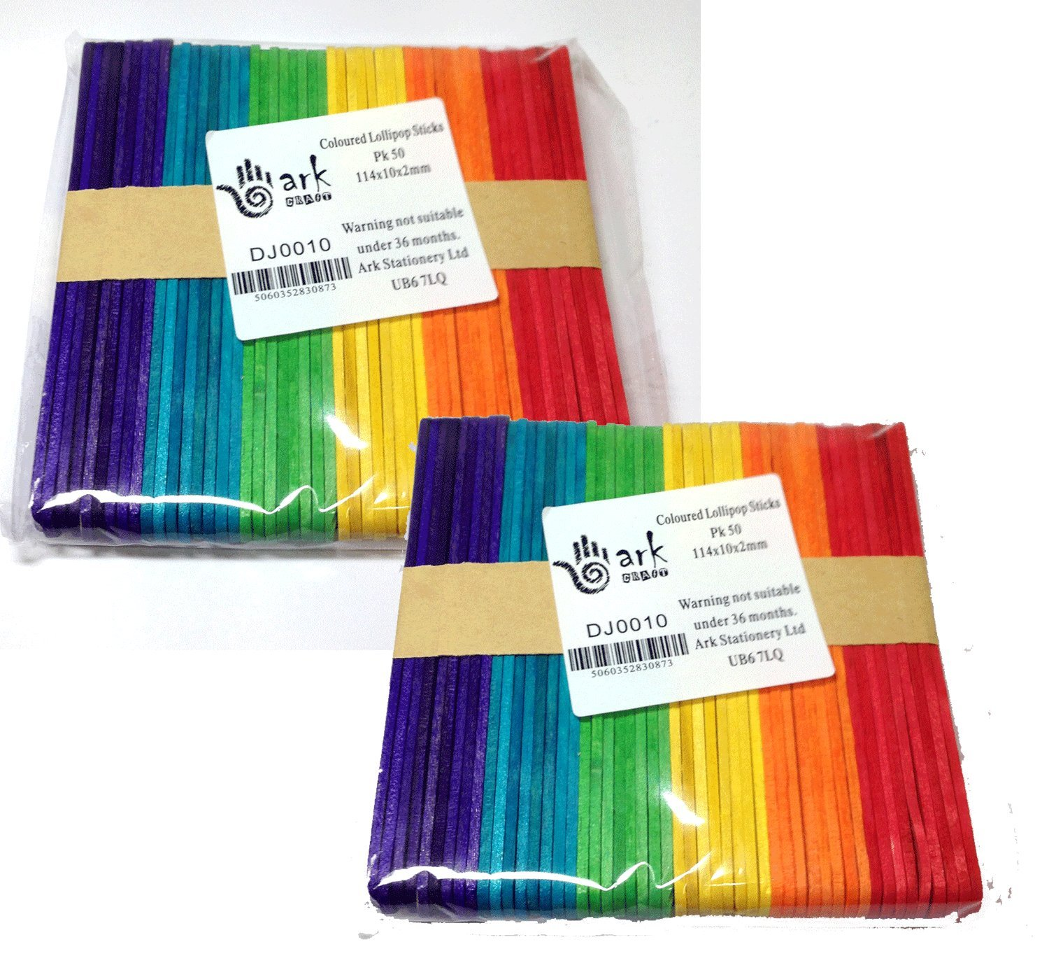 Ideal for model making and collage, these wooden lolly sticks are available plain or in an assortment of bright colours.