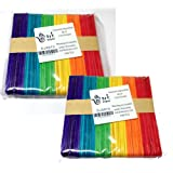 2 x 50 Lollipop Craft Sticks (Natural or Colored) (Coloured) by Ark