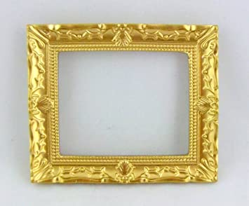 1 Stück Miniatur Bilderrahmen Fotorahmen aus Holz für 1:12 Puppenstuben