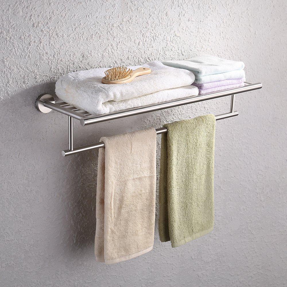 KES sus304ステンレス鋼バスルーム洗面所トイレットペーパーホルダー、ディスペンサー壁マウント、a20-p Towel Rack ブラック 43180-36923 B078YBDJP2Towel Rack