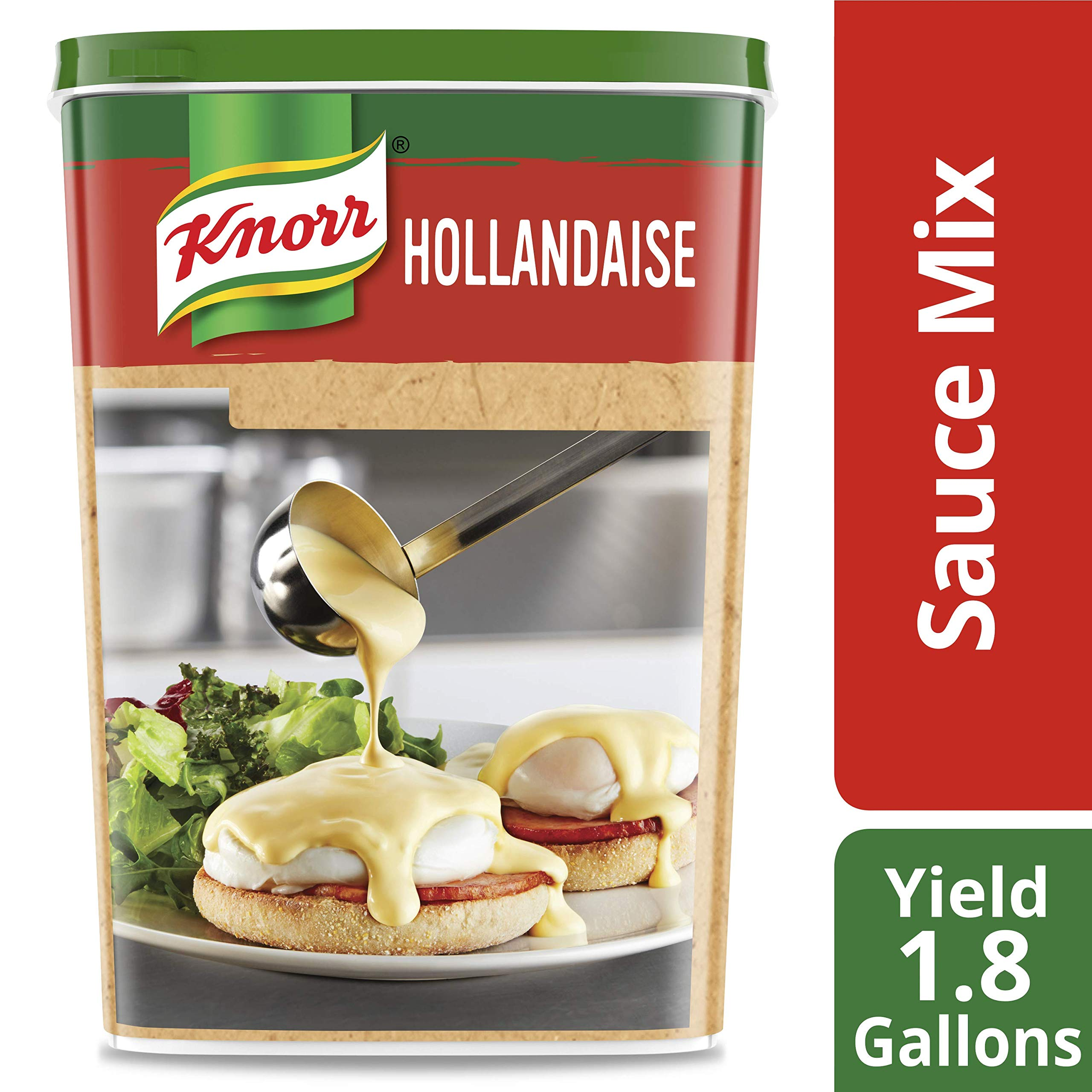 Knorr Professional Ultimate Hollandaise Sauce Mix Vegetarian, Gluten Free, No Artificial Flavors or Preservatives, No added MSG, 30.2 oz, Pack of 4 by Knorr