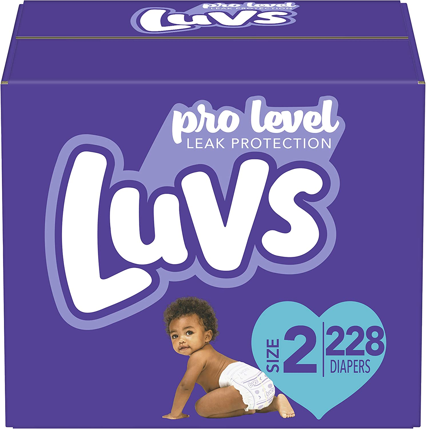 Amazon Com Diapers Size 2 228 Count Luvs Ultra Leakguards Disposable Baby Diapers One Month Supply Health Personal Care