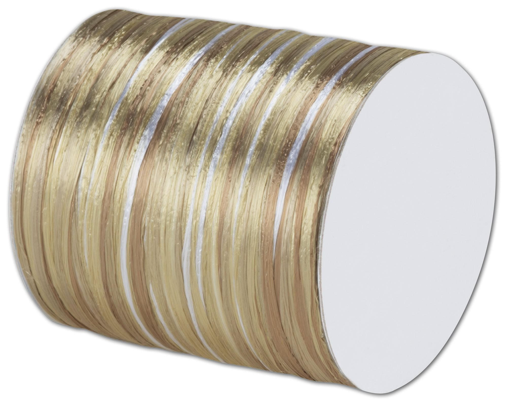 Raffia Pearl Champagne Multi Ribbon 1/4'' x 55 Yds (2/pack)- BOWS-138-104 by Miller Supply Inc