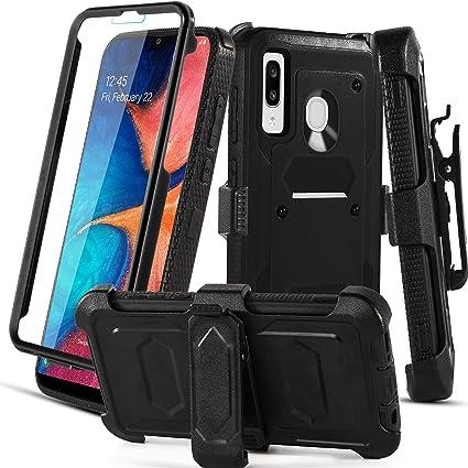 Aetech Phone Case for Samsung Galaxy A20 / Galaxy A30 / Galaxy A50 Case with Belt Clip Screen Protector Kickstand Heavy Duty for Women Men Girls Boys ...
