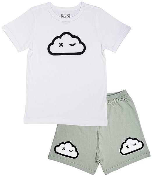 Amazon.com: Trimfit Conjunto de pijama de manga corta de ...