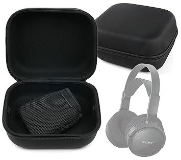 DURAGADGET Estuche Rígido Negro Para Auriculares Krom Kyus/Logitech H800/Sennheiser PXC 550/