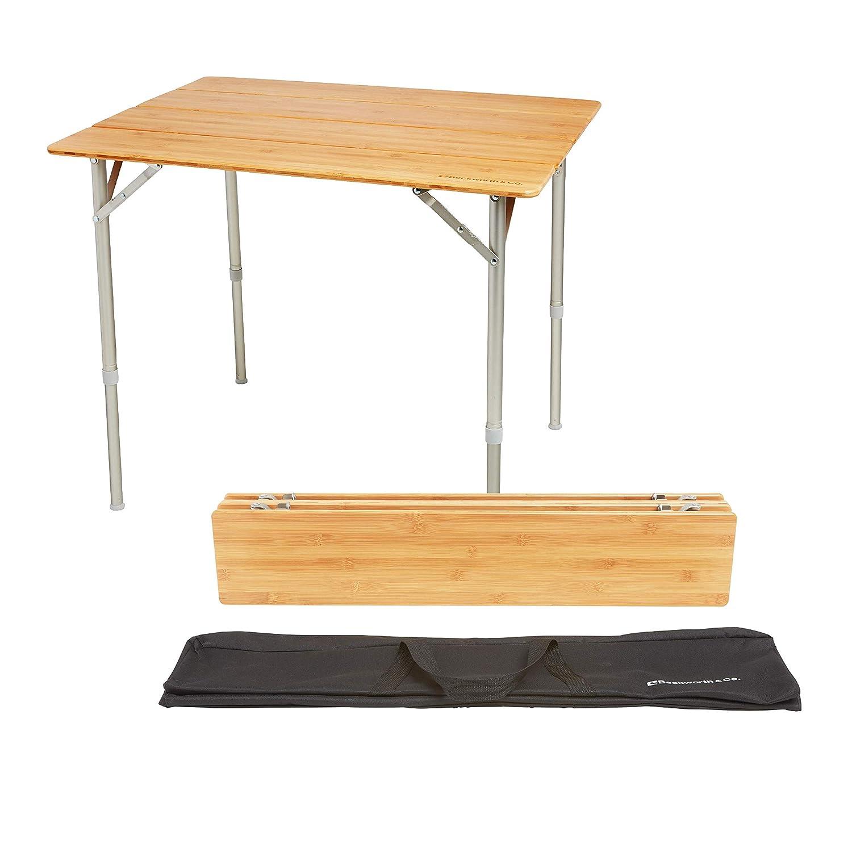 SmartFlip Bamboo Portable Outdoor Picnic Folding Table with Adjustable  Height & Carry Bag - Large : Garden & Outdoor - Amazon.com : Beckworth & Co. SmartFlip Bamboo Portable Outdoor