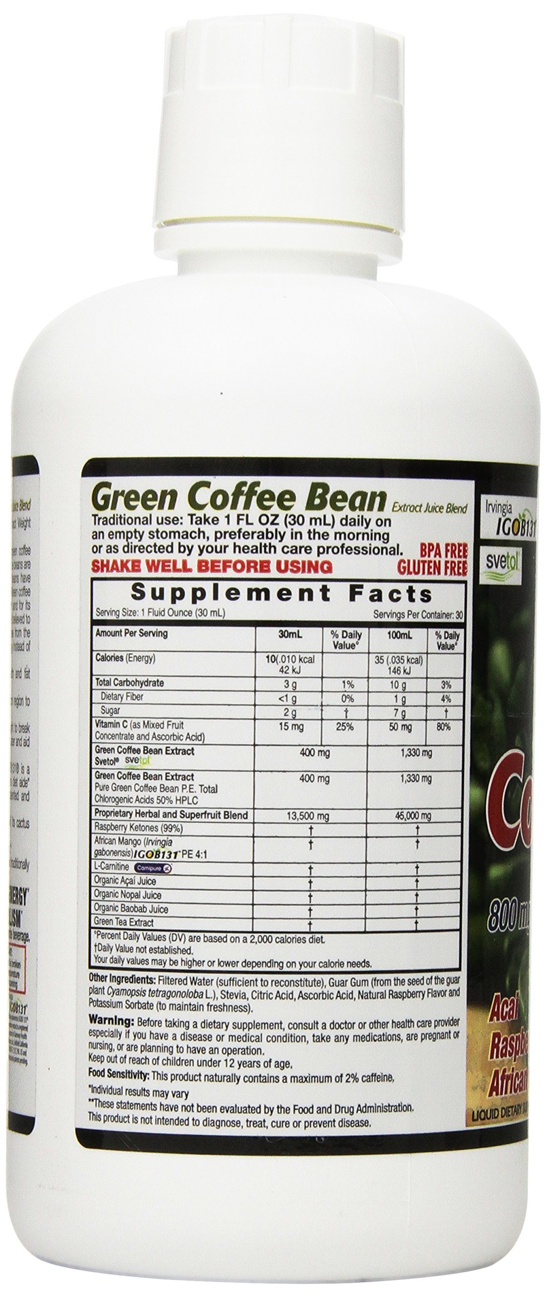 Dynamic Health Green Coffee Bean Juice Blend, 30 Fluid Ounce by Dynamic Health (Image #5)