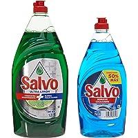 Salvo Detergente Líquido Lavatrastes Salvo Ultra Limón 1200 ml + Salvo Líquido Power Clean 750 ml