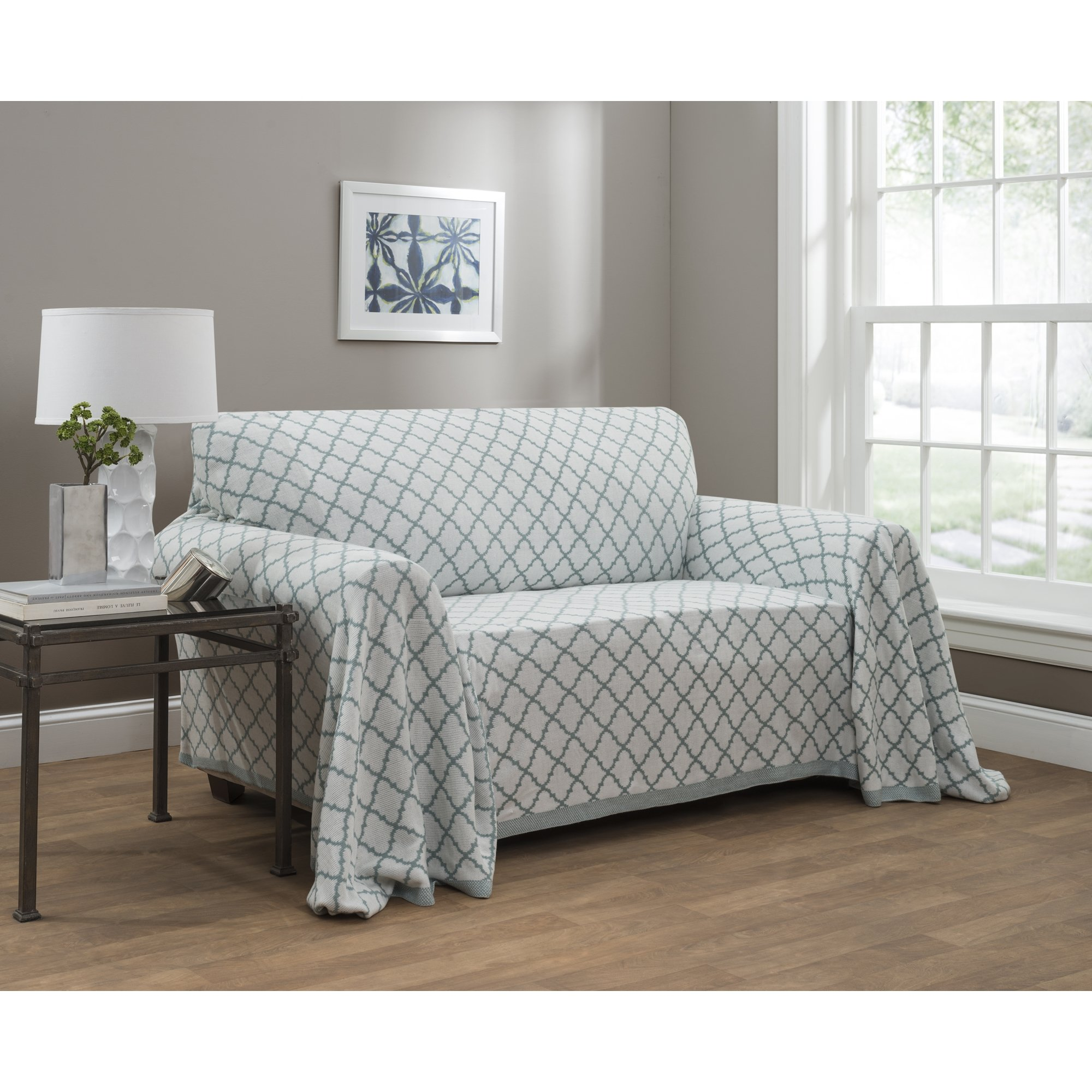 Innovative Textile Solutions Jeffery Home Ogee Reversible Throw - 170x70, Spa