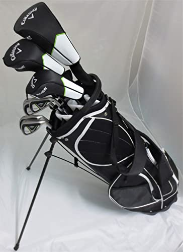 Callaway Mens Golf Set Complete Driver, Wood, Hybrid, Irons, Putter, Clubs Stand Bag Regular Flex