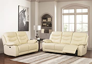 SC Furniture Ltd Cream High Grade Leather Electric Reclining ...