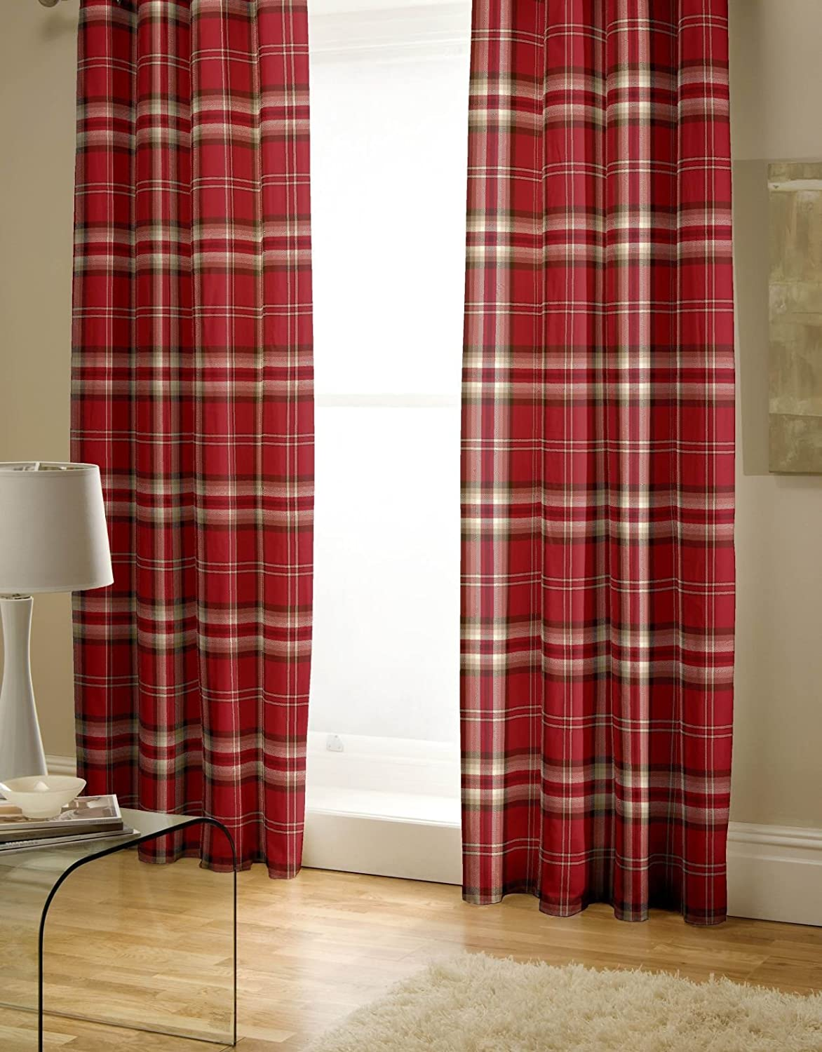 Catherine Lansfield Kelso Curtains - Heather Turner Bianca BD/33905/W/E6672/HE